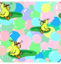 Ducks And Soap Bubbles vector image vector image
