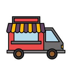 Food truck icon vector