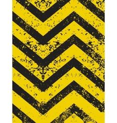grungy and worn hazard vector image vector image
