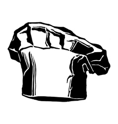 hat of chef togue vector image