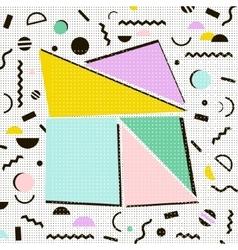 Modern geometric memphis background Retro style vector image vector image