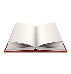 opened modern book isolated vector image