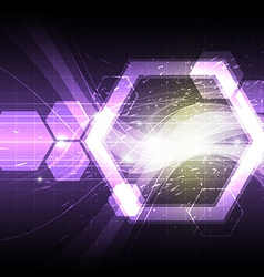polygon shape abstract background vector image