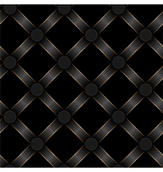 seamless black ribbon and gold strip pattern vector image