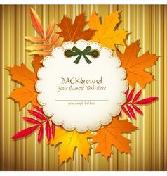 Autumn striped background vector