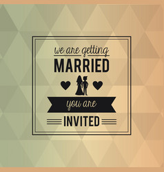 colorful abstract background card of wedding vector image