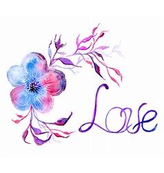 Watercolor flower vector image vector image