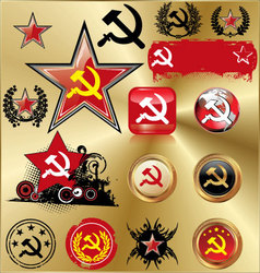 communist signs vector image vector image
