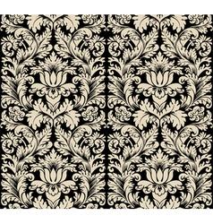 damask semless silk vector image vector image