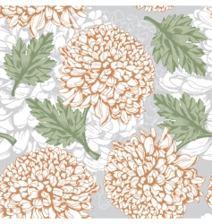 excellent seamless pattern with chrysanthemum vector image vector image