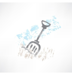 shovel grunge icon vector image