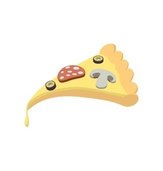 Slice of pizza icon cartoon style vector image vector image