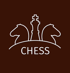 chess business strategy logo vector image
