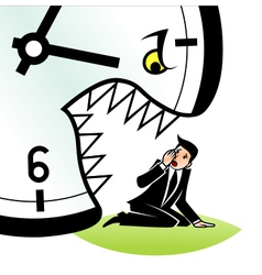 Hungry time vector image vector image