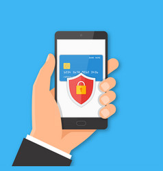 mobile payment security concept vector image