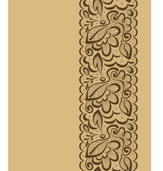 seamless background Lace flowers and leaves on a vector image