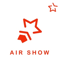 Star shape logo air show vector image