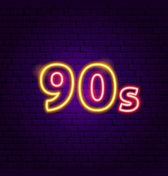 90s neon label vector image
