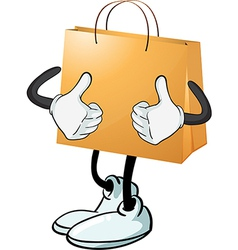 A yellow bag vector image