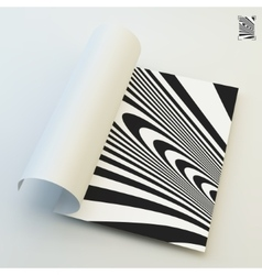 A4 business blank Black and white abstract vector image