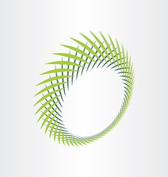 abstract green background with green leafs vector image