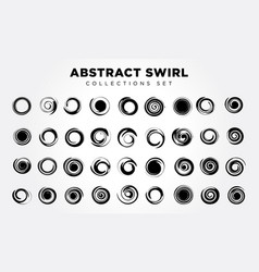 Abstract spiral set vector