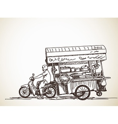 Asian street food vector