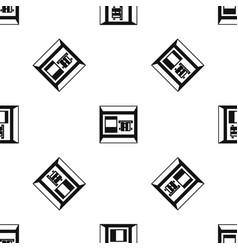 atm pattern seamless black vector image