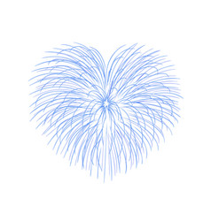 Beautiful heart-firework bright romantic salute vector