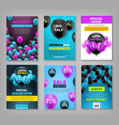 Black friday set coupons vouchers flyers vector