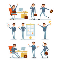 business people working in office with information vector image