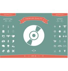 cd dvd symbol icon vector image