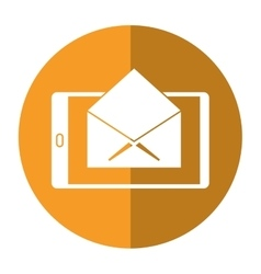 Cellphone message email envelope shadow vector