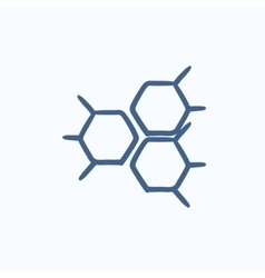 Chemical formula sketch icon vector