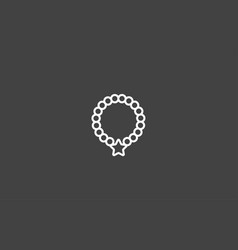 collar icon sign symbol vector image