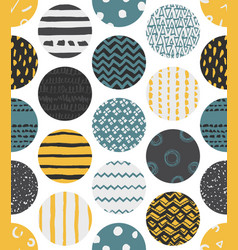 colorful seamless patterns with circles vector image