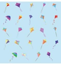 Cute kites vector