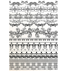 Decorative borders for your design vector