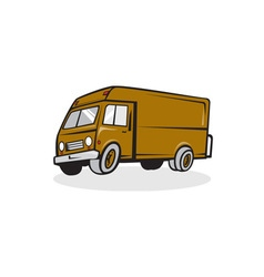 Delivery Van Side Isolated Cartoon vector image