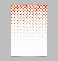 Diagonal square pattern flyer design - tile vector