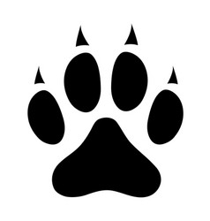 dog paw print icon sign symbol vector image