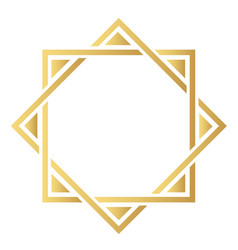 element of oriental ornament gold modern vector image