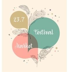Festival bohemian tribal ethnic poster vector