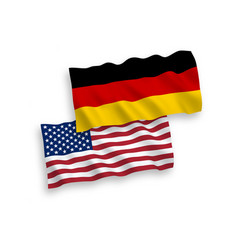 Flags of germany and america on a white background vector