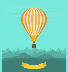 Flat balloon vector