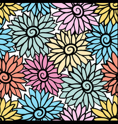 Floral background with stylized blooming vector