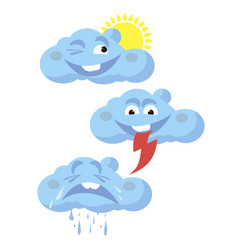 Funny clouds vector