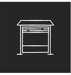 Garage chalk white icon on black background vector