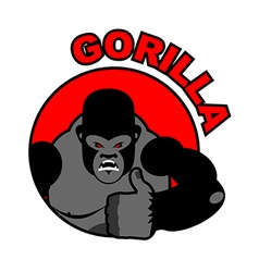 Gorilla shows well sign all right thumbs up hand vector