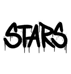 Graffiti stars word sprayed isolated on white vector